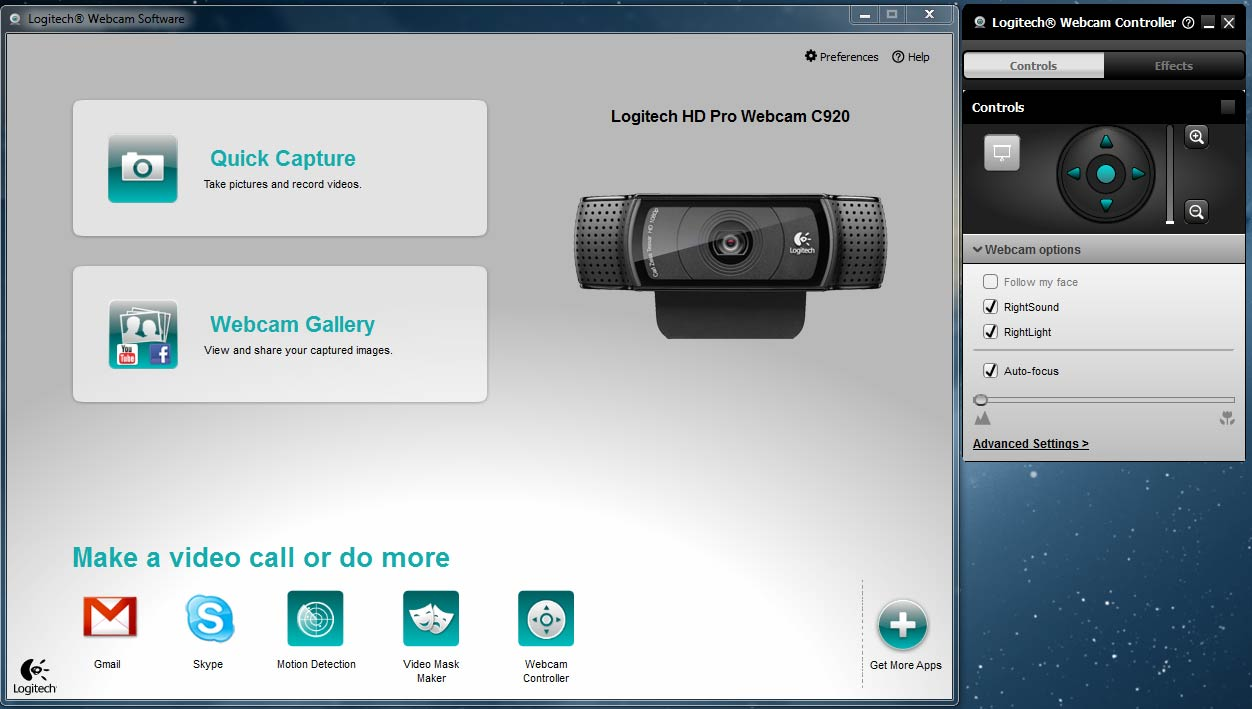 logitech video effects download