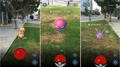 Capturing pokemon in Pokemon Go for iOS & Android
