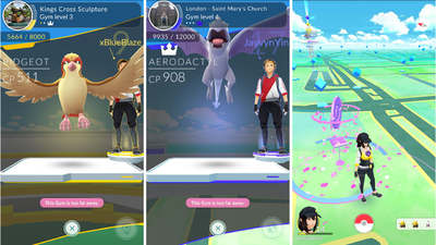 Showing gym leaders & pokestops in Pokemon Go
